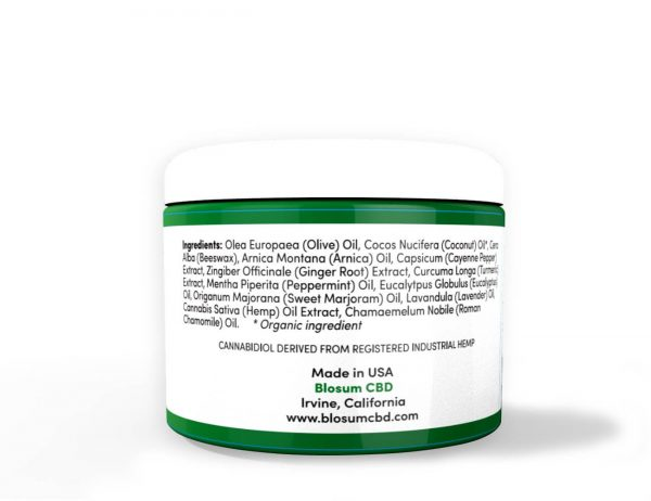 Blosum CBD Warming Salve 500mg back