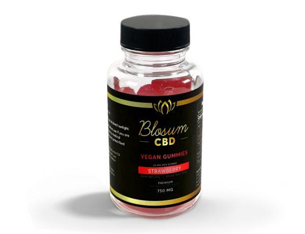 BlosumCBD gummies organic vegan strawberry flavour premium