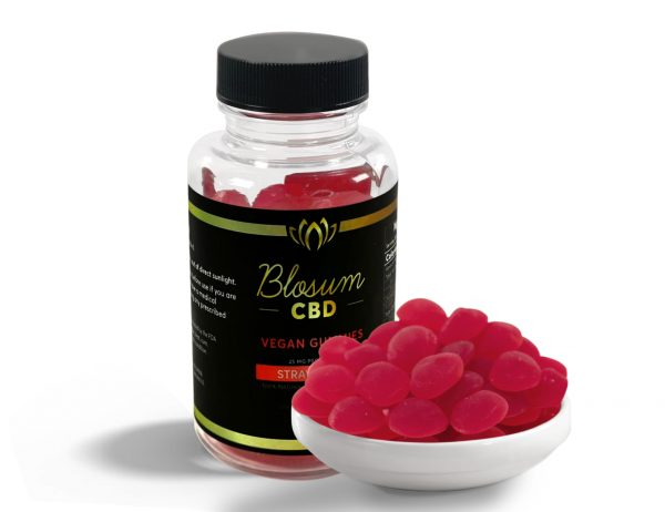 BlosumCBD gummies organic vegan 25mg