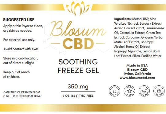Soothing Freeze Gel 350mg Facts