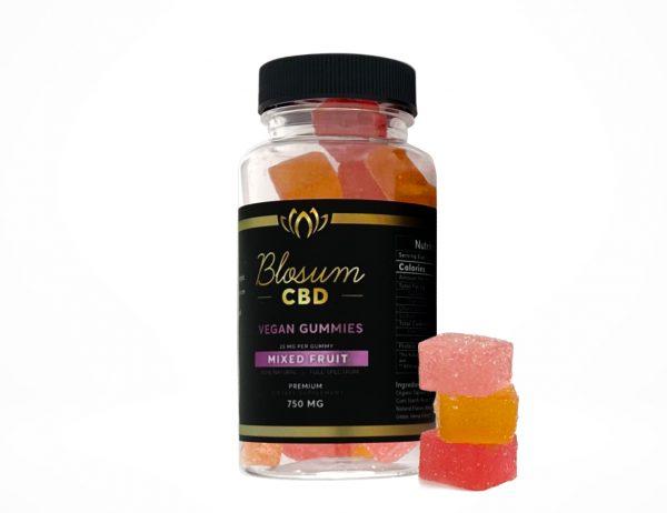 CBD Gummies Vegan Full Spectrum mix fruit 750